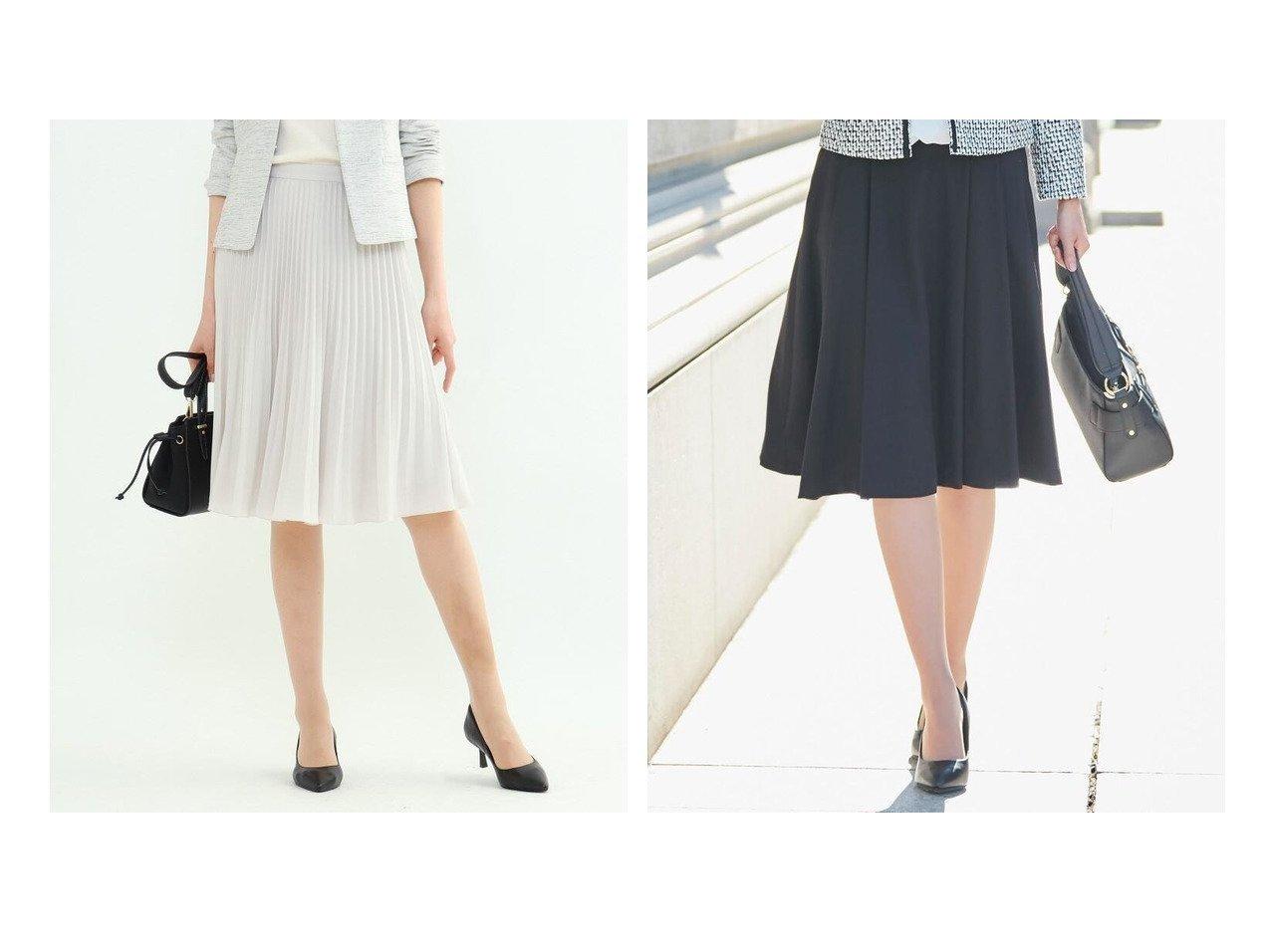 【SHOO LA RUE/シューラルー】の【S-4L】タックフレアースカート&【INDIVI/インディヴィ】のプリーツデシンスカート スカートのおすすめ!人気、トレンド・レディースファッションの通販  おすすめで人気の流行・トレンド、ファッションの通販商品 メンズファッション・キッズファッション・インテリア・家具・レディースファッション・服の通販 founy(ファニー) https://founy.com/ ファッション Fashion レディースファッション WOMEN スカート Skirt Aライン/フレアスカート Flared A-Line Skirts エアリー ドレープ プリーツ ポケット 再入荷 Restock/Back in Stock/Re Arrival  ID:crp329100000019231