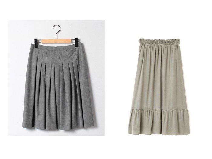 【Theory Luxe/セオリーリュクス】の【セットアップ対応商品】スカート EXECUTIVE AIDEN&【HUMAN WOMAN/ヒューマンウーマン】の75dシフォンスカート スカートのおすすめ!人気、トレンド・レディースファッションの通販  おすすめファッション通販アイテム インテリア・キッズ・メンズ・レディースファッション・服の通販 founy(ファニー) https://founy.com/ ファッション Fashion レディースファッション WOMEN セットアップ Setup スカート Skirt スカート Skirt プリーツスカート Pleated Skirts キュプラ ストレッチ セットアップ プリーツ 定番 Standard シフォン スタンダード |ID:crp329100000019234
