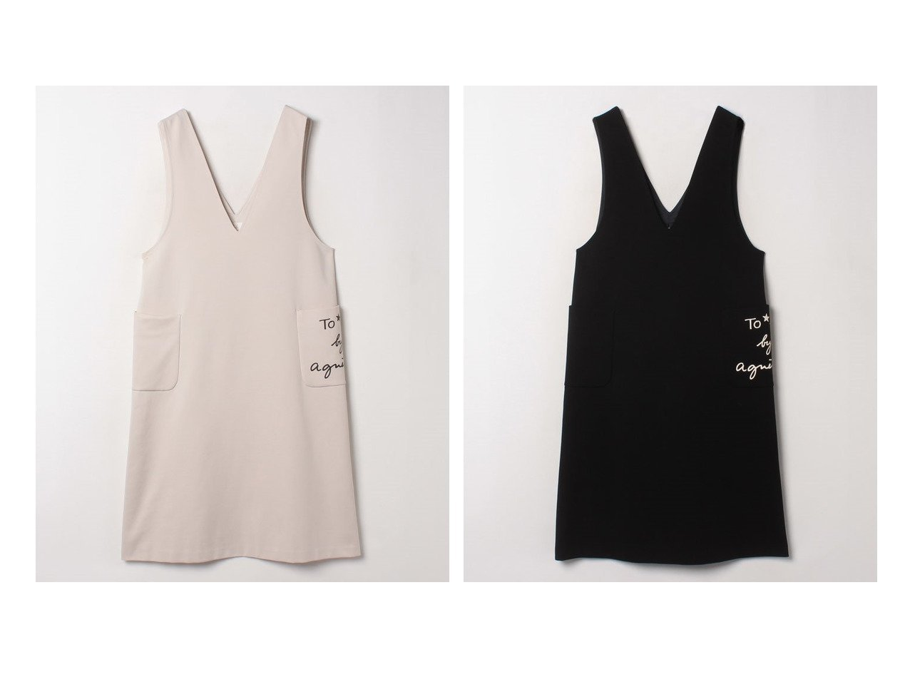 【To b. by agnes b./トゥービー バイ アニエスベー】のWQ69 ROBE ジャンパースカート スカートのおすすめ!人気、トレンド・レディースファッションの通販  おすすめで人気の流行・トレンド、ファッションの通販商品 メンズファッション・キッズファッション・インテリア・家具・レディースファッション・服の通販 founy(ファニー) https://founy.com/ ファッション Fashion レディースファッション WOMEN スカート Skirt インナー シンプル ストレッチ タートルネック プリント ポケット  ID:crp329100000019235