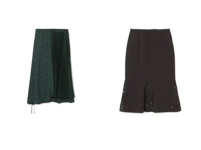 【LOKITHO/ロキト】のLACED COMBI SKIRT&【TOGA PULLA/トーガ プルラ】のJaquard skirt スカートのおすすめ!人気、トレンド・レディースファッションの通販  おすすめファッション通販アイテム レディースファッション・服の通販 founy(ファニー) ファッション Fashion レディースファッション WOMEN スカート Skirt 2021年 2021 2021 春夏 S/S SS Spring/Summer 2021 S/S 春夏 SS Spring/Summer アシンメトリー ジャカード フェミニン プリーツ マキシ ロング エレガント カッティング フラワー ベーシック ミドル モチーフ レース 春 Spring |ID:crp329100000019237