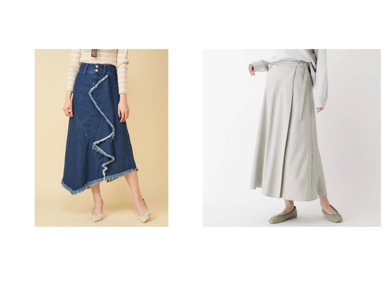 【OPAQUE.CLIP/オペークドットクリップ】の【WEB限定サイズあり】ストレッチヴィンテージクロス ストライプフレアラップスカート&【ROYAL PARTY/ロイヤルパーティー】のラッフルアシメデニムスカート スカートのおすすめ!人気、トレンド・レディースファッションの通販  おすすめで人気の流行・トレンド、ファッションの通販商品 メンズファッション・キッズファッション・インテリア・家具・レディースファッション・服の通販 founy(ファニー) https://founy.com/ ファッション Fashion レディースファッション WOMEN スカート Skirt デニムスカート Denim Skirts 2021年 2021 2021 春夏 S/S SS Spring/Summer 2021 S/S 春夏 SS Spring/Summer スリット フェミニン 春 Spring ヴィンテージ 洗える ストライプ ストレッチ フレア プリント マキシ ラップ ロング |ID:crp329100000019241
