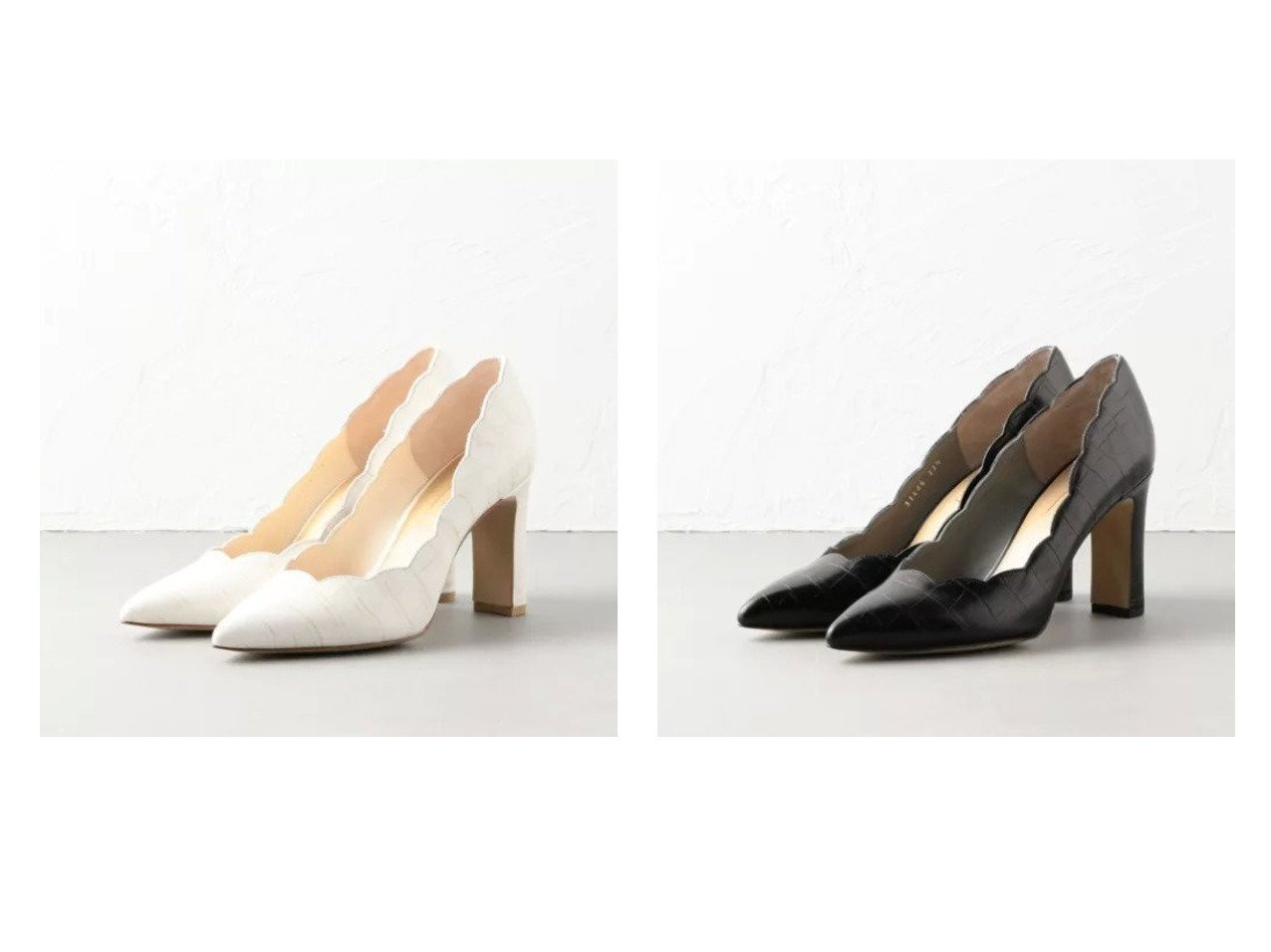 【Odette e Odile/オデット エ オディール】のOID スカラップ パンプス85↓↑ シューズ・靴のおすすめ!人気、トレンド・レディースファッションの通販  おすすめで人気の流行・トレンド、ファッションの通販商品 メンズファッション・キッズファッション・インテリア・家具・レディースファッション・服の通販 founy(ファニー) https://founy.com/ ファッション Fashion レディースファッション WOMEN シューズ スカラップ ストレート |ID:crp329100000019266