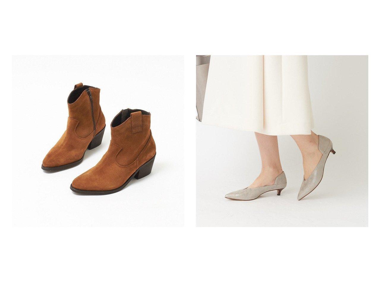 【Au BANNISTER/オゥ バニスター】のELDER カッティングパンプス&【collex/コレックス】の【ティシモ】ウエスタンショートブーツ シューズ・靴のおすすめ!人気、トレンド・レディースファッションの通販  おすすめで人気の流行・トレンド、ファッションの通販商品 メンズファッション・キッズファッション・インテリア・家具・レディースファッション・服の通販 founy(ファニー) https://founy.com/ ファッション Fashion レディースファッション WOMEN アーモンドトゥ シューズ ショート ドレス バランス フェミニン カッティング |ID:crp329100000019272