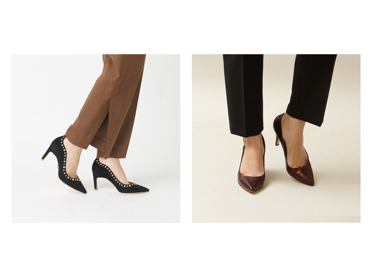 【Au BANNISTER/オゥ バニスター】のSaffree カラーメタリックパンプス&ミックススタッズパンプス シューズ・靴のおすすめ!人気、トレンド・レディースファッションの通販  おすすめで人気の流行・トレンド、ファッションの通販商品 メンズファッション・キッズファッション・インテリア・家具・レディースファッション・服の通販 founy(ファニー) https://founy.com/ ファッション Fashion レディースファッション WOMEN シューズ A/W 秋冬 AW Autumn/Winter / FW Fall-Winter なめらか インソール ハイヒール パーティ メタリック |ID:crp329100000019273