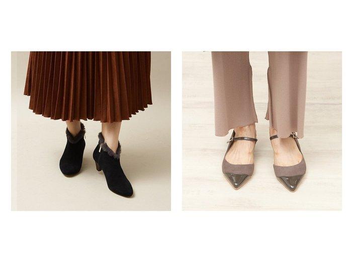 【Au BANNISTER/オゥ バニスター】のストラップパンプス&ポインテッドファーブーツ シューズ・靴のおすすめ!人気、トレンド・レディースファッションの通販  おすすめ人気トレンドファッション通販アイテム インテリア・キッズ・メンズ・レディースファッション・服の通販 founy(ファニー) https://founy.com/ ファッション Fashion レディースファッション WOMEN A/W 秋冬 AW Autumn/Winter / FW Fall-Winter シューズ ストラップパンプス スマート チェック レオパード エレガント ショート ジップ ベーシック |ID:crp329100000019275