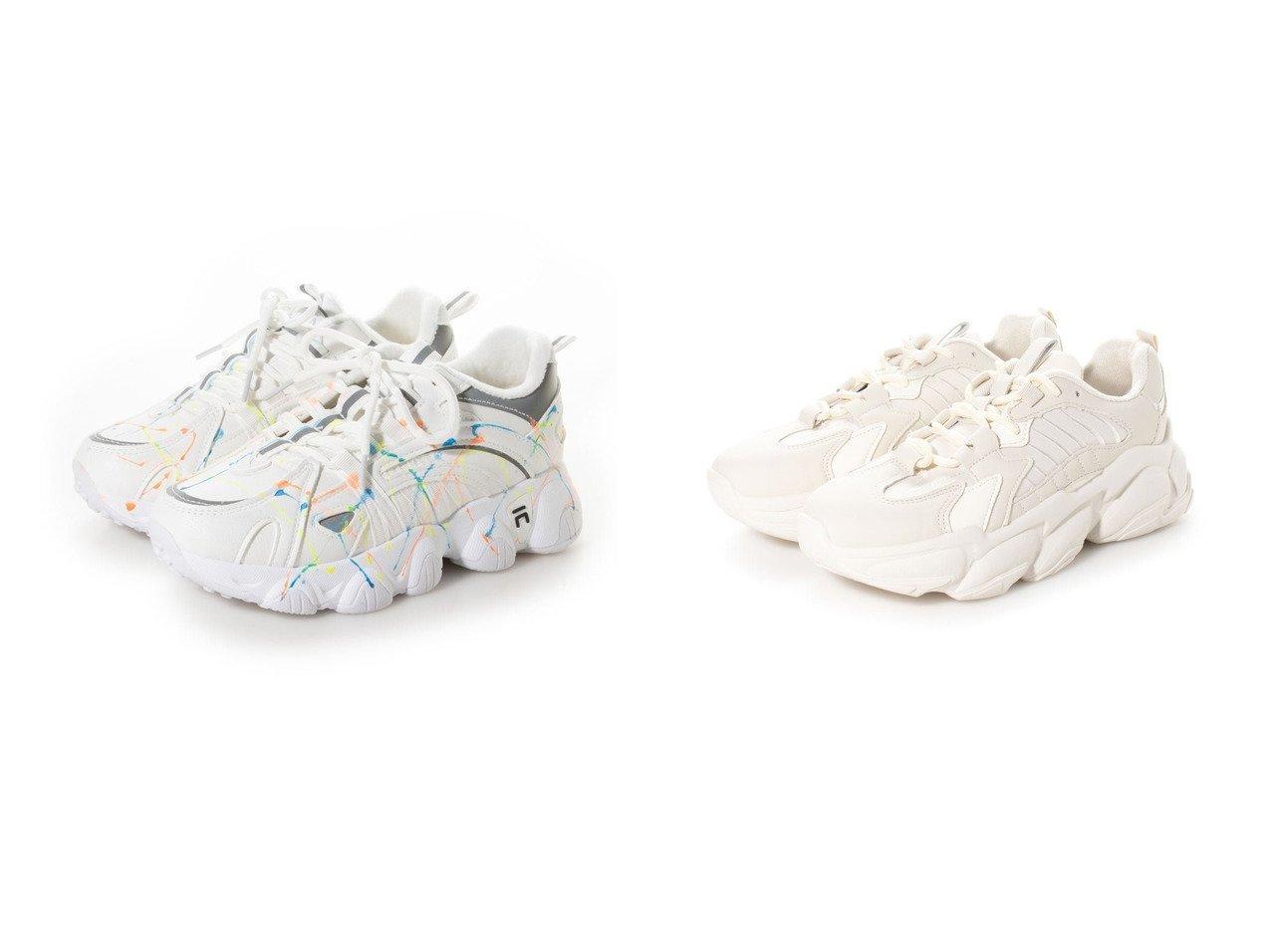【SVEC/シュベック】の厚底ダッドスニーカー&ダッドスニーカー シューズ・靴のおすすめ!人気、トレンド・レディースファッションの通販  おすすめで人気の流行・トレンド、ファッションの通販商品 メンズファッション・キッズファッション・インテリア・家具・レディースファッション・服の通販 founy(ファニー) https://founy.com/ ファッション Fashion レディースファッション WOMEN スニーカー デニム バランス ミリタリー 厚底 |ID:crp329100000019299