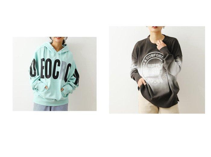 【RODEO CROWNS WIDE BOWL/ロデオクラウンズワイドボウル】のグラデーションロゴニット&ポイントデニムアップリケパーカー RODEO CROWNS WIDE BOWLのおすすめ!人気、トレンド・レディースファッションの通販  おすすめファッション通販アイテム レディースファッション・服の通販 founy(ファニー) ファッション Fashion レディースファッション WOMEN トップス Tops Tshirt パーカ Sweats ニット Knit Tops 2021年 2021 2021 春夏 S/S SS Spring/Summer 2021 S/S 春夏 SS Spring/Summer クラウン デニム パーカー ビッグ メンズ 春 Spring NEW・新作・新着・新入荷 New Arrivals グラデーション ボーダー  ID:crp329100000019313
