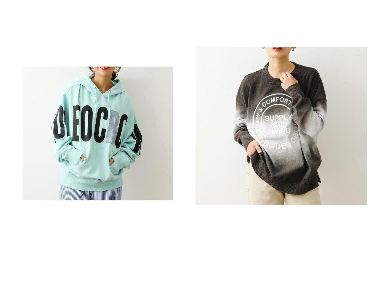 【RODEO CROWNS WIDE BOWL/ロデオクラウンズワイドボウル】のグラデーションロゴニット&ポイントデニムアップリケパーカー RODEO CROWNS WIDE BOWLのおすすめ!人気、トレンド・レディースファッションの通販  おすすめで人気の流行・トレンド、ファッションの通販商品 メンズファッション・キッズファッション・インテリア・家具・レディースファッション・服の通販 founy(ファニー) https://founy.com/ ファッション Fashion レディースファッション WOMEN トップス Tops Tshirt パーカ Sweats ニット Knit Tops 2021年 2021 2021 春夏 S/S SS Spring/Summer 2021 S/S 春夏 SS Spring/Summer クラウン デニム パーカー ビッグ メンズ 春 Spring NEW・新作・新着・新入荷 New Arrivals グラデーション ボーダー  ID:crp329100000019313