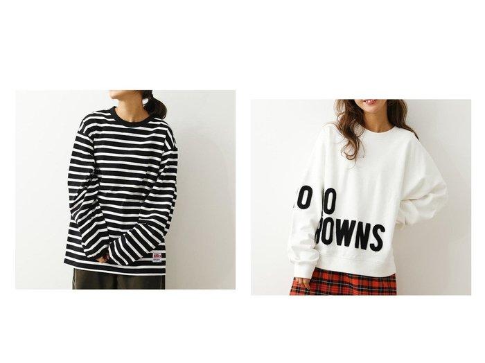 【RODEO CROWNS WIDE BOWL/ロデオクラウンズワイドボウル】のインサイドアウトロゴスウェット&S Tシャツ RODEO CROWNS WIDE BOWLのおすすめ!人気、トレンド・レディースファッションの通販  おすすめファッション通販アイテム レディースファッション・服の通販 founy(ファニー) ファッション Fashion レディースファッション WOMEN トップス Tops Tshirt シャツ/ブラウス Shirts Blouses ロング / Tシャツ T-Shirts カットソー Cut and Sewn パーカ Sweats スウェット Sweat NEW・新作・新着・新入荷 New Arrivals タイトスカート チュニック ビッグ フレア ボーダー レギンス 定番 Standard パッチ 長袖  ID:crp329100000019314