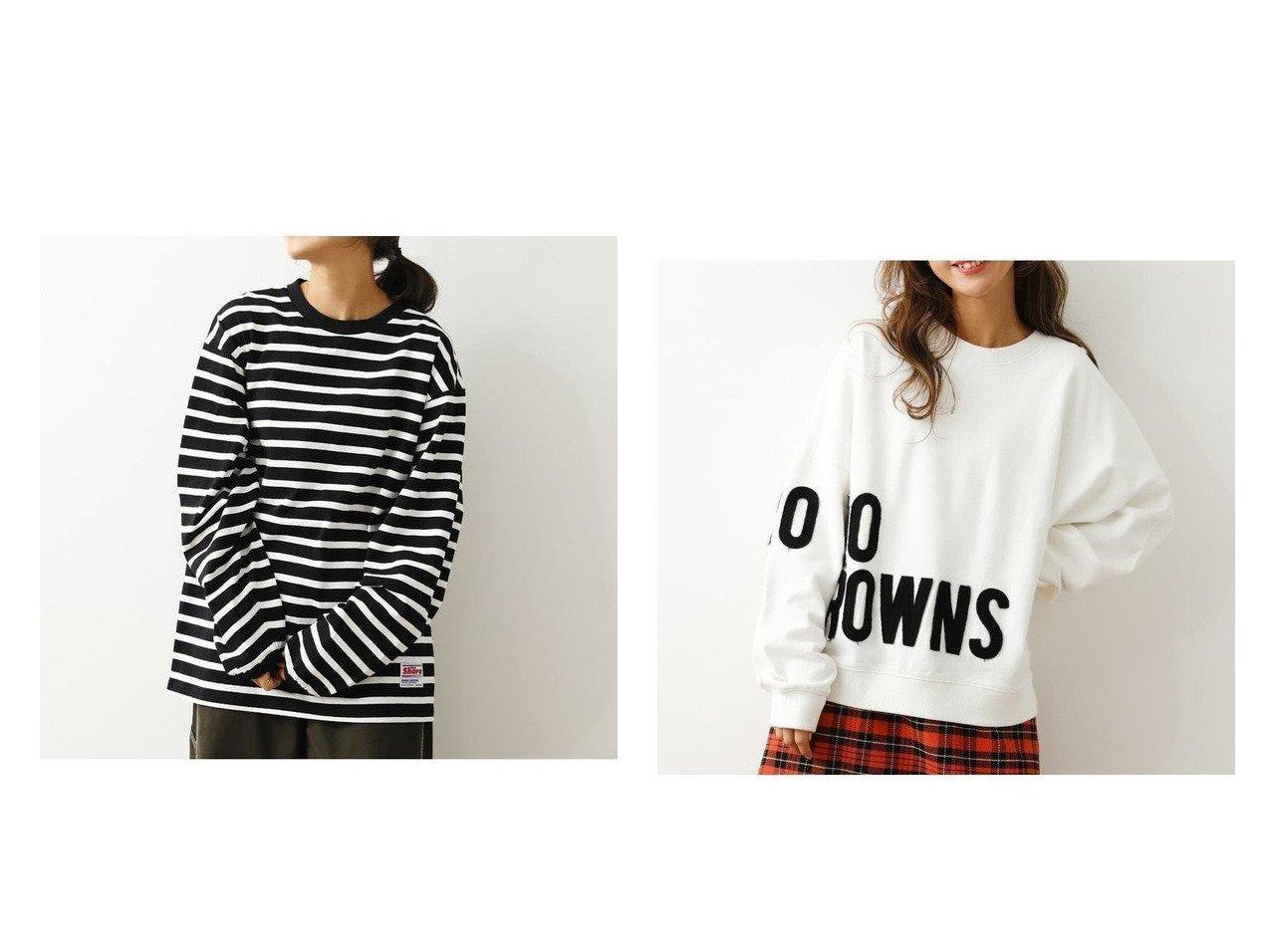 【RODEO CROWNS WIDE BOWL/ロデオクラウンズワイドボウル】のインサイドアウトロゴスウェット&S Tシャツ RODEO CROWNS WIDE BOWLのおすすめ!人気、トレンド・レディースファッションの通販  おすすめで人気の流行・トレンド、ファッションの通販商品 メンズファッション・キッズファッション・インテリア・家具・レディースファッション・服の通販 founy(ファニー) https://founy.com/ ファッション Fashion レディースファッション WOMEN トップス Tops Tshirt シャツ/ブラウス Shirts Blouses ロング / Tシャツ T-Shirts カットソー Cut and Sewn パーカ Sweats スウェット Sweat NEW・新作・新着・新入荷 New Arrivals タイトスカート チュニック ビッグ フレア ボーダー レギンス 定番 Standard パッチ 長袖  ID:crp329100000019314