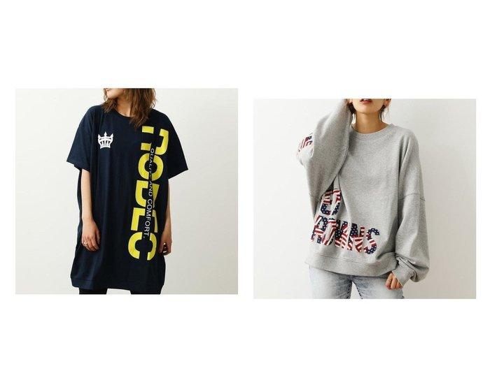 【RODEO CROWNS WIDE BOWL/ロデオクラウンズワイドボウル】のロゴカットワンピース&インサイドアウトロゴスウェット RODEO CROWNS WIDE BOWLのおすすめ!人気、トレンド・レディースファッションの通販  おすすめファッション通販アイテム レディースファッション・服の通販 founy(ファニー) ファッション Fashion レディースファッション WOMEN ワンピース Dress トップス Tops Tshirt シャツ/ブラウス Shirts Blouses パーカ Sweats スウェット Sweat チュニック 再入荷 Restock/Back in Stock/Re Arrival パッチ 長袖  ID:crp329100000019315
