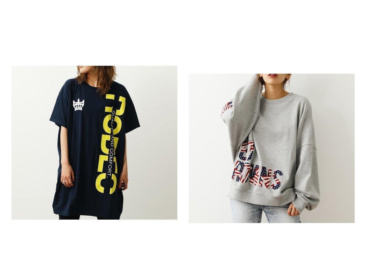 【RODEO CROWNS WIDE BOWL/ロデオクラウンズワイドボウル】のロゴカットワンピース&インサイドアウトロゴスウェット RODEO CROWNS WIDE BOWLのおすすめ!人気、トレンド・レディースファッションの通販  おすすめで人気の流行・トレンド、ファッションの通販商品 メンズファッション・キッズファッション・インテリア・家具・レディースファッション・服の通販 founy(ファニー) https://founy.com/ ファッション Fashion レディースファッション WOMEN ワンピース Dress トップス Tops Tshirt シャツ/ブラウス Shirts Blouses パーカ Sweats スウェット Sweat チュニック 再入荷 Restock/Back in Stock/Re Arrival パッチ 長袖  ID:crp329100000019315