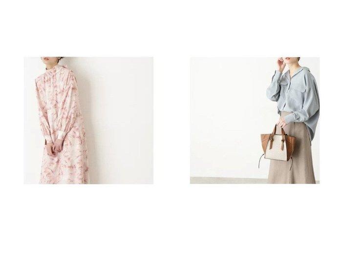 【N.Natural Beauty basic/エヌ ナチュラルビューティーベーシック】のマーブルボウタイワンピース&ポケットスキッパーシャツ NATURAL-BEAUTY-BASICのおすすめ!人気、トレンド・レディースファッションの通販  おすすめファッション通販アイテム インテリア・キッズ・メンズ・レディースファッション・服の通販 founy(ファニー) https://founy.com/ ファッション Fashion レディースファッション WOMEN ワンピース Dress トップス Tops Tshirt シャツ/ブラウス Shirts Blouses バランス マーブル リボン スキッパー スリット ポケット |ID:crp329100000019317