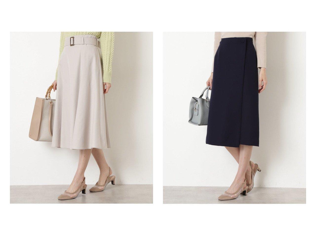 【NATURAL BEAUTY BASIC/ナチュラル ビューティー ベーシック】のバックルベルトフレアスカート&ラップ風ストレートスカート NATURAL BEAUTY BASICのおすすめ!人気、トレンド・レディースファッションの通販  おすすめで人気の流行・トレンド、ファッションの通販商品 メンズファッション・キッズファッション・インテリア・家具・レディースファッション・服の通販 founy(ファニー) https://founy.com/ ファッション Fashion レディースファッション WOMEN スカート Skirt Aライン/フレアスカート Flared A-Line Skirts バッグ Bag ベルト Belts NEW・新作・新着・新入荷 New Arrivals フレア 春 Spring シンプル ストレッチ ストレート ラップ |ID:crp329100000019324