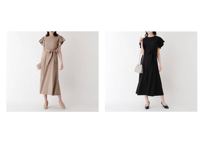 【OPAQUE.CLIP/オペークドットクリップ】のサテン袖フレアワンピース OPAQUE.CLIPのおすすめ!人気、トレンド・レディースファッションの通販  おすすめファッション通販アイテム レディースファッション・服の通販 founy(ファニー) ファッション Fashion レディースファッション WOMEN ワンピース Dress 2021年 2021 2021 春夏 S/S SS Spring/Summer 2021 S/S 春夏 SS Spring/Summer エレガント ギャザー サテン スリーブ フィット フレア ベーシック ポケット 春 Spring |ID:crp329100000019333