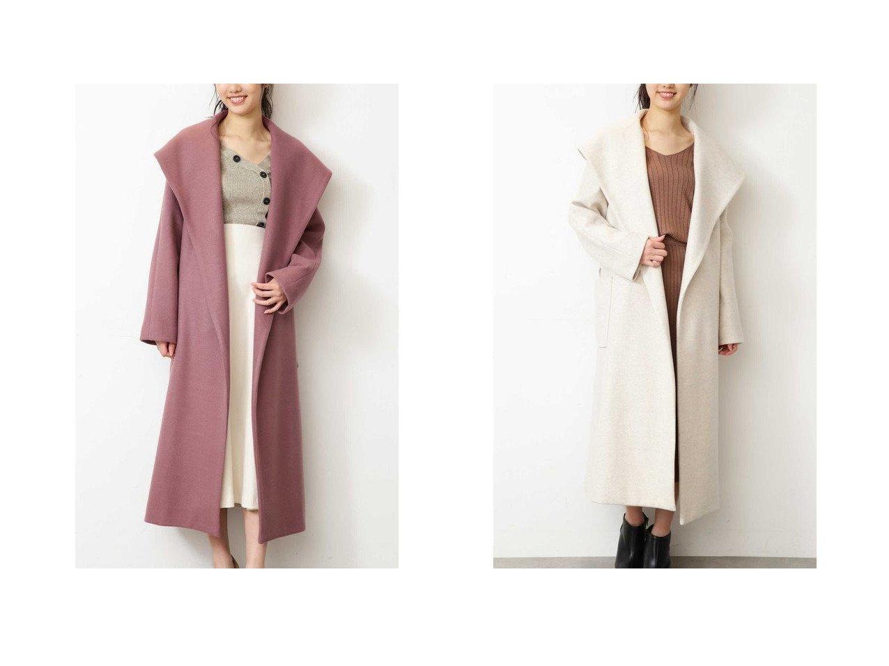 【FREE'S MART/フリーズマート】の《Sシリーズ対応商品》 ジャージメルトンショールカラーコート FREE'S MARTのおすすめ!人気、トレンド・レディースファッションの通販  おすすめで人気の流行・トレンド、ファッションの通販商品 メンズファッション・キッズファッション・インテリア・家具・レディースファッション・服の通販 founy(ファニー) https://founy.com/ ファッション Fashion レディースファッション WOMEN アウター Coat Outerwear コート Coats ガウン ショール ジャージ フェルト プリーツ メルトン 再入荷 Restock/Back in Stock/Re Arrival |ID:crp329100000019351