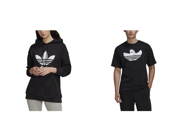 【adidas Originals/アディダス オリジナルス】のアディダス アディカラー トレフォイル パーカー&グラフィック シュムー 半袖Tシャツ(ユニセックス) adidasのおすすめ!人気、トレンド・レディースファッションの通販  おすすめファッション通販アイテム インテリア・キッズ・メンズ・レディースファッション・服の通販 founy(ファニー) https://founy.com/ ファッション Fashion レディースファッション WOMEN トップス Tops Tshirt パーカ Sweats スポーツウェア Sportswear スポーツ トップス Tops シャツ/ブラウス Shirts Blouses ロング / Tシャツ T-Shirts カットソー Cut and Sewn クラシック スポーツ パーカー フィット フレンチ ポケット レギュラー グラフィック センター 半袖 |ID:crp329100000019380