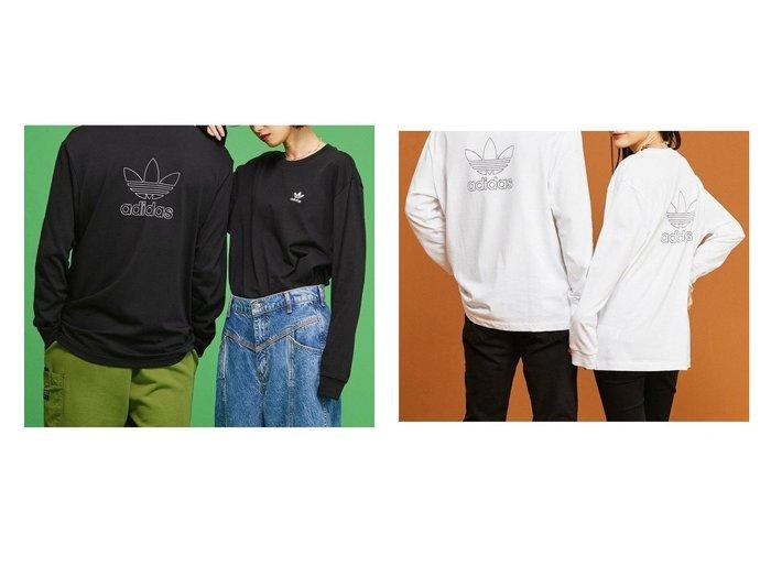 【adidas Originals/アディダス オリジナルス】のB+F TRFL LS TEE adidasのおすすめ!人気、トレンド・レディースファッションの通販  おすすめファッション通販アイテム レディースファッション・服の通販 founy(ファニー) ファッション Fashion レディースファッション WOMEN トップス Tops Tshirt シャツ/ブラウス Shirts Blouses ロング / Tシャツ T-Shirts カットソー Cut and Sewn カットソー ジャージー 長袖 |ID:crp329100000019381