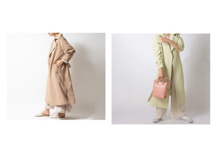 【NOLLEY'S/ノーリーズ】の中空糸バッククロストレンチコート NOLLEY'Sのおすすめ!人気、トレンド・レディースファッションの通販  おすすめファッション通販アイテム レディースファッション・服の通販 founy(ファニー) ファッション Fashion レディースファッション WOMEN アウター Coat Outerwear コート Coats トレンチコート Trench Coats バランス リラックス |ID:crp329100000019395