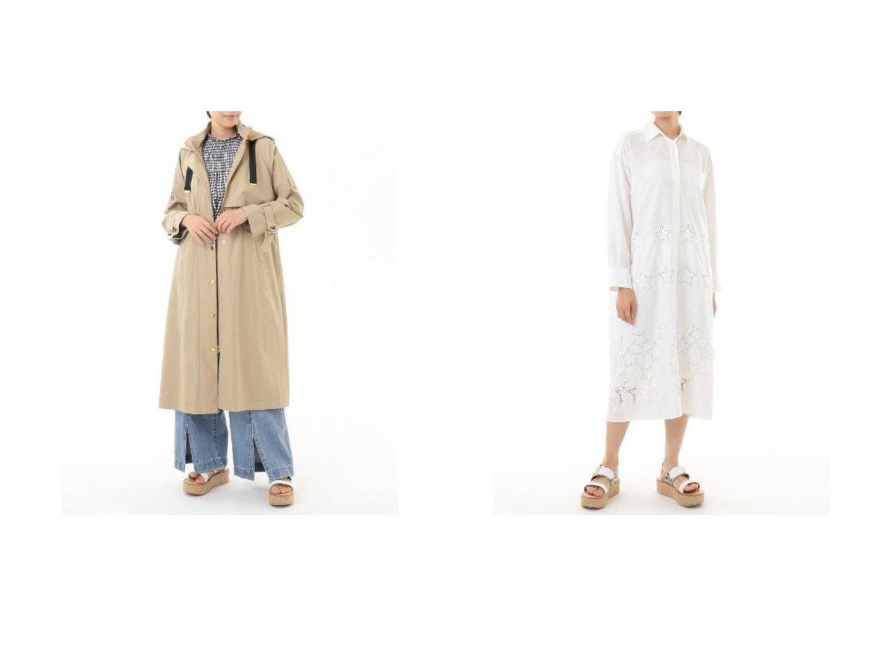 【GRACE CONTINENTAL/グレース コンチネンタル】のフードロングコート&スター刺繍シャツワンピース GRACE CONTINENTALのおすすめ!人気、トレンド・レディースファッションの通販  おすすめで人気の流行・トレンド、ファッションの通販商品 メンズファッション・キッズファッション・インテリア・家具・レディースファッション・服の通販 founy(ファニー) https://founy.com/ ファッション Fashion レディースファッション WOMEN アウター Coat Outerwear コート Coats ジャケット Jackets ワンピース Dress シャツワンピース Shirt Dresses ジャケット |ID:crp329100000019415