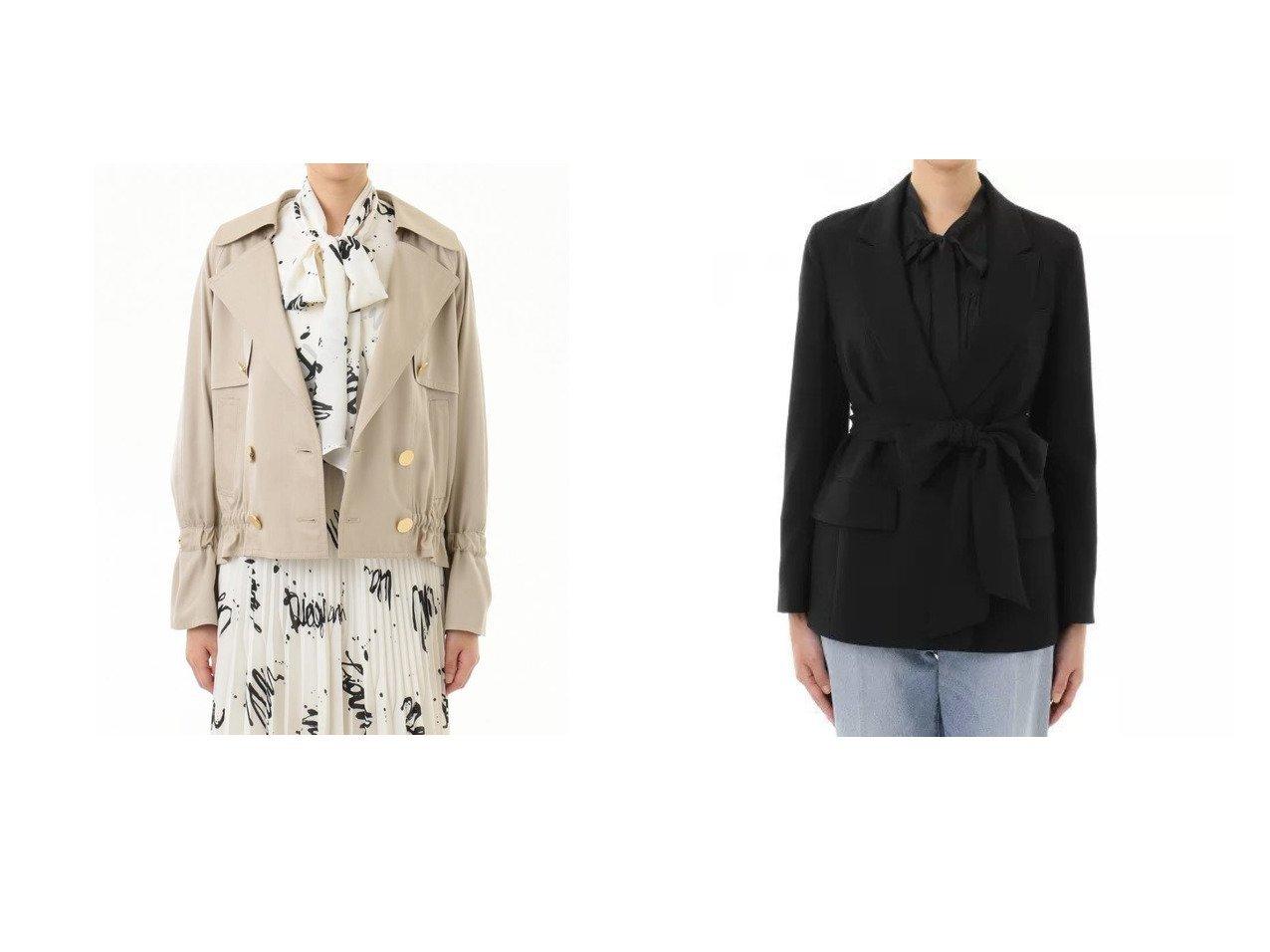 【GRACE CONTINENTAL/グレース コンチネンタル】のトリアセリボンベルトジャケット&ドルマントレンチジャケット GRACE CONTINENTALのおすすめ!人気、トレンド・レディースファッションの通販  おすすめで人気の流行・トレンド、ファッションの通販商品 メンズファッション・キッズファッション・インテリア・家具・レディースファッション・服の通販 founy(ファニー) https://founy.com/ ファッション Fashion レディースファッション WOMEN アウター Coat Outerwear コート Coats ジャケット Jackets トレンチコート Trench Coats ベルト Belts NEW・新作・新着・新入荷 New Arrivals ショート スリーブ フリル ペプラム メタル 定番 Standard ジャケット |ID:crp329100000019417