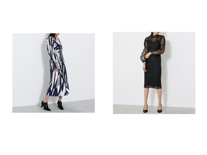 【rienda/リエンダ】のウエストギャザーボリュームOP&チュールコンビレースタイトOP riendaのおすすめ!人気、トレンド・レディースファッションの通販  おすすめファッション通販アイテム レディースファッション・服の通販 founy(ファニー) ファッション Fashion レディースファッション WOMEN ワンピース Dress 2020年 2020 2020-2021 秋冬 A/W AW Autumn/Winter / FW Fall-Winter 2020-2021 A/W 秋冬 AW Autumn/Winter / FW Fall-Winter クール シャーリング オケージョン ギャザー チュール レース 定番 Standard  ID:crp329100000019423