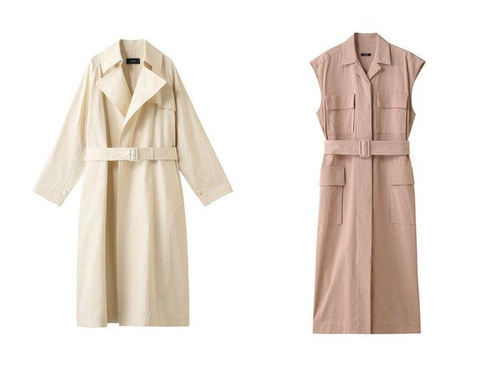 【YLEVE/イレーヴ】のハイカウントコットンカルゼジレワンピース&コットンドライツイルコート YLEVEのおすすめ!人気、トレンド・レディースファッションの通販 おすすめファッション通販アイテム レディースファッション・服の通販 founy(ファニー) ファッション Fashion レディースファッション WOMEN アウター Coat Outerwear コート Coats 2021年 2021 2021 春夏 S/S SS Spring/Summer 2021 S/S 春夏 SS Spring/Summer ロング 春 Spring |ID:crp329100000019425