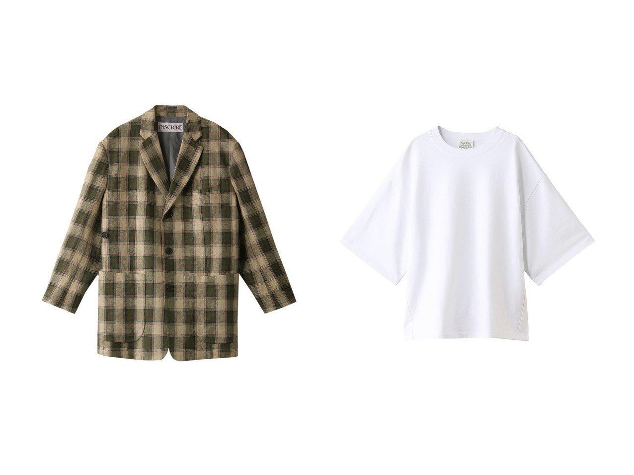 【INSCRIRE/アンスクリア】のロイヤルオーガニックコットンクルーネックTシャツ&プレイドリネンキャンバスビッグジャケット INSCRIREのおすすめ!人気、トレンド・レディースファッションの通販 おすすめで人気の流行・トレンド、ファッションの通販商品 メンズファッション・キッズファッション・インテリア・家具・レディースファッション・服の通販 founy(ファニー) https://founy.com/ ファッション Fashion レディースファッション WOMEN アウター Coat Outerwear ジャケット Jackets トップス Tops Tshirt シャツ/ブラウス Shirts Blouses ロング / Tシャツ T-Shirts カットソー Cut and Sewn 2021年 2021 2021 春夏 S/S SS Spring/Summer 2021 S/S 春夏 SS Spring/Summer キャンバス ジャケット ビッグ ボトム リネン リラックス 春 Spring  ID:crp329100000019472