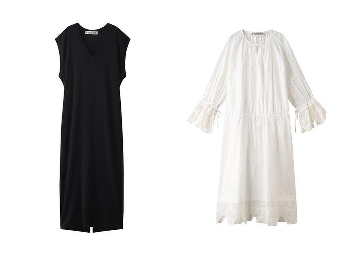 【INSCRIRE/アンスクリア】のレーヨンプレーティングVネックドレス&クロスレースコットンドレス INSCRIREのおすすめ!人気、トレンド・レディースファッションの通販 おすすめファッション通販アイテム レディースファッション・服の通販 founy(ファニー) ファッション Fashion レディースファッション WOMEN ワンピース Dress ドレス Party Dresses 2021年 2021 2021 春夏 S/S SS Spring/Summer 2021 S/S 春夏 SS Spring/Summer エレガント スリーブ ドレス ドレープ フレンチ ミックス ロング 春 Spring  ID:crp329100000019474