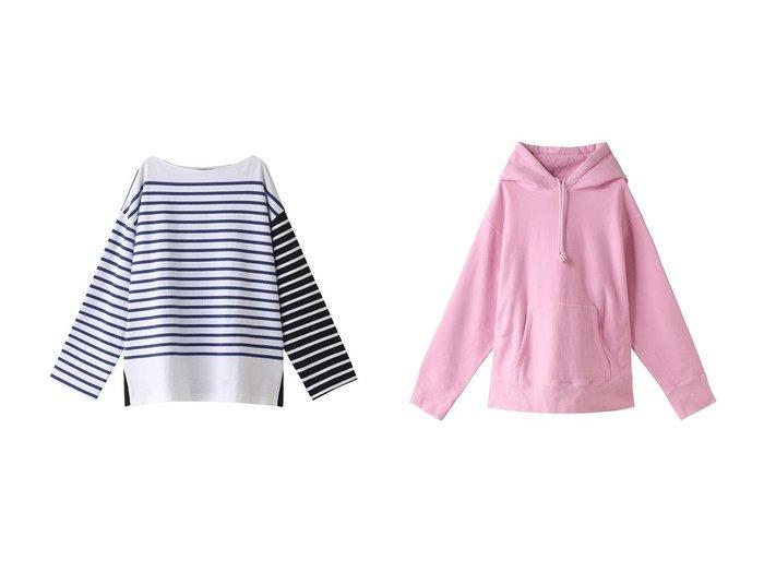【INSCRIRE/アンスクリア】のコットンボーダービッグボートネックTシャツ&Zeroループフーディー INSCRIREのおすすめ!人気、トレンド・レディースファッションの通販 おすすめファッション通販アイテム レディースファッション・服の通販 founy(ファニー) ファッション Fashion レディースファッション WOMEN トップス Tops Tshirt シャツ/ブラウス Shirts Blouses ロング / Tシャツ T-Shirts カットソー Cut and Sewn パーカ Sweats スウェット Sweat 2021年 2021 2021 春夏 S/S SS Spring/Summer 2021 S/S 春夏 SS Spring/Summer スリーブ バランス ビッグ ボーダー ロング ワイド 春 Spring |ID:crp329100000019477