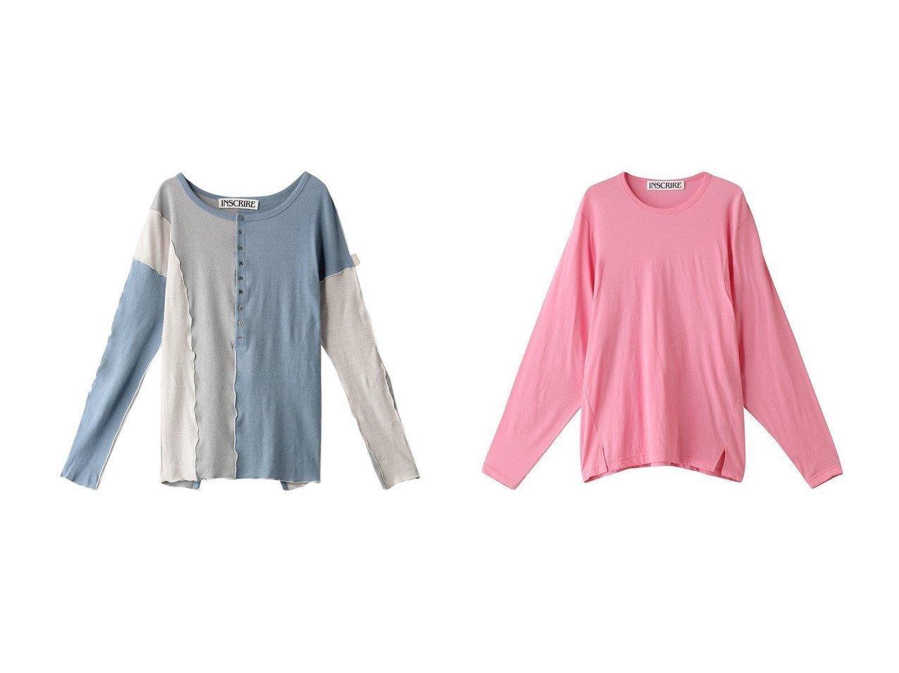 【INSCRIRE/アンスクリア】のテクノラマロングスリーブTシャツ&コットンリネンフライスダブルヘンリーネックシャツ INSCRIREのおすすめ!人気、トレンド・レディースファッションの通販 おすすめで人気の流行・トレンド、ファッションの通販商品 メンズファッション・キッズファッション・インテリア・家具・レディースファッション・服の通販 founy(ファニー) https://founy.com/ ファッション Fashion レディースファッション WOMEN トップス Tops Tshirt シャツ/ブラウス Shirts Blouses ロング / Tシャツ T-Shirts カットソー Cut and Sewn 2021年 2021 2021 春夏 S/S SS Spring/Summer 2021 S/S 春夏 SS Spring/Summer スリット スリーブ トレンド ロング 春 Spring  ID:crp329100000019479