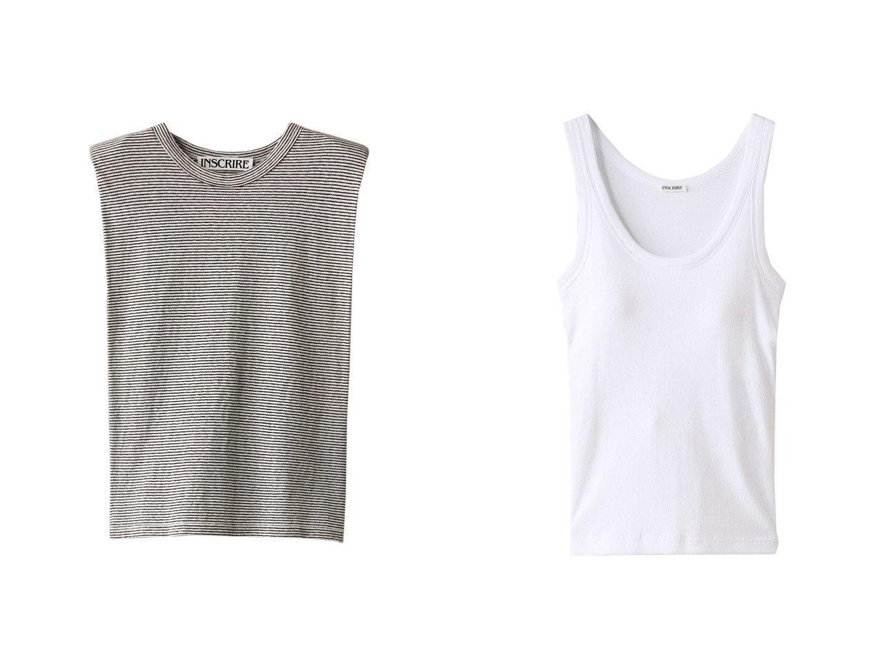 【INSCRIRE/アンスクリア】のコットンショルダーTシャツ&ジオラマテレコタンクトップ INSCRIREのおすすめ!人気、トレンド・レディースファッションの通販 おすすめで人気の流行・トレンド、ファッションの通販商品 メンズファッション・キッズファッション・インテリア・家具・レディースファッション・服の通販 founy(ファニー) https://founy.com/ ファッション Fashion レディースファッション WOMEN トップス Tops Tshirt シャツ/ブラウス Shirts Blouses ロング / Tシャツ T-Shirts カットソー Cut and Sewn キャミソール / ノースリーブ No Sleeves 2021年 2021 2021 春夏 S/S SS Spring/Summer 2021 S/S 春夏 SS Spring/Summer ショルダー ショート シンプル スリーブ 春 Spring  ID:crp329100000019485