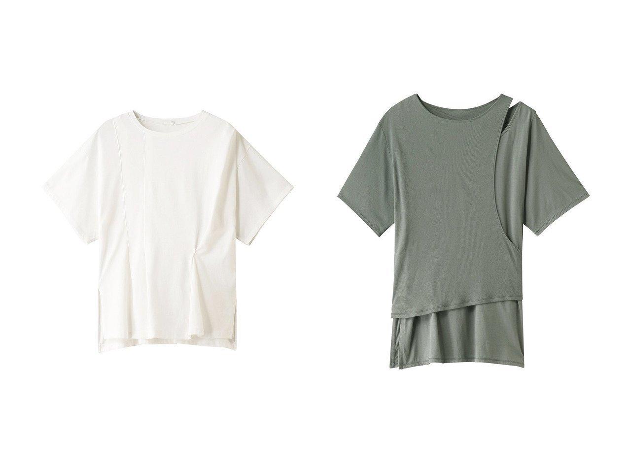【RITO/リト】のコットンジャージータックTシャツ&コットンジャージーレイヤードTシャツ RITOのおすすめ!人気、トレンド・レディースファッションの通販 おすすめで人気の流行・トレンド、ファッションの通販商品 メンズファッション・キッズファッション・インテリア・家具・レディースファッション・服の通販 founy(ファニー) https://founy.com/ ファッション Fashion レディースファッション WOMEN トップス Tops Tshirt シャツ/ブラウス Shirts Blouses ロング / Tシャツ T-Shirts カットソー Cut and Sewn 2021年 2021 2021 春夏 S/S SS Spring/Summer 2021 S/S 春夏 SS Spring/Summer ショート シンプル スリーブ ベーシック 定番 Standard 春 Spring  ID:crp329100000019488