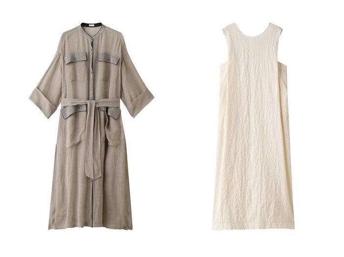 【RITO/リト】のリップルコットンクロスクルーネックロングドレス&リネンクロスロングシャツドレス RITOのおすすめ!人気、トレンド・レディースファッションの通販 おすすめファッション通販アイテム レディースファッション・服の通販 founy(ファニー) ファッション Fashion レディースファッション WOMEN ワンピース Dress ドレス Party Dresses 2021年 2021 2021 春夏 S/S SS Spring/Summer 2021 S/S 春夏 SS Spring/Summer インナー スリット リネン ロング ヴィンテージ 春 Spring  ID:crp329100000019489