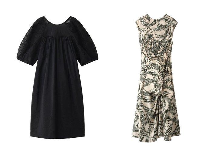 【muller of yoshiokubo/ミュラー オブ ヨシオクボ】のステムレーススリーブドレス&プリントコットンギャザードレス muller of yoshiokuboのおすすめ!人気、トレンド・レディースファッションの通販 おすすめファッション通販アイテム レディースファッション・服の通販 founy(ファニー) ファッション Fashion レディースファッション WOMEN ワンピース Dress ドレス Party Dresses 2021年 2021 2021 春夏 S/S SS Spring/Summer 2021 S/S 春夏 SS Spring/Summer ギャザー スリーブ バルーン パーティ レース 春 Spring |ID:crp329100000019499