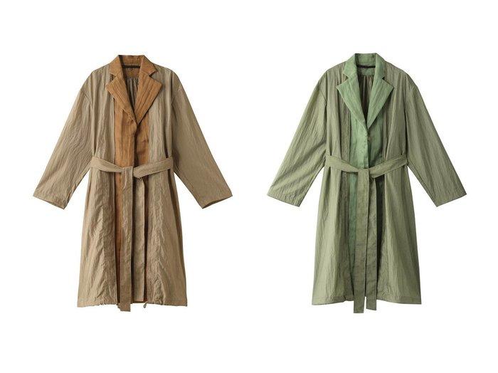 【muller of yoshiokubo/ミュラー オブ ヨシオクボ】のラスター2wayコート muller of yoshiokuboのおすすめ!人気、トレンド・レディースファッションの通販 おすすめファッション通販アイテム レディースファッション・服の通販 founy(ファニー) ファッション Fashion レディースファッション WOMEN アウター Coat Outerwear コート Coats 2021年 2021 2021 春夏 S/S SS Spring/Summer 2021 S/S 春夏 SS Spring/Summer フロント ロング 春 Spring  ID:crp329100000019500