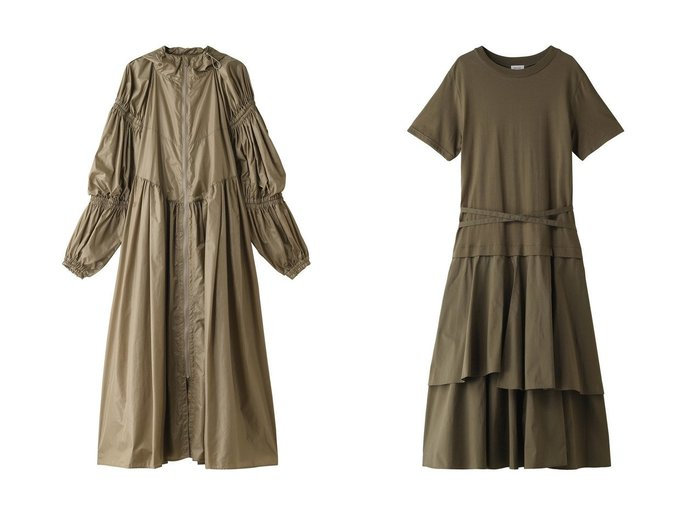 【REKISAMI/レキサミ】の【Chika Kisada】ナイロンギャザージップアップロングコート&レイヤードフリルヘムワンピース REKISAMIのおすすめ!人気、トレンド・レディースファッションの通販 おすすめファッション通販アイテム レディースファッション・服の通販 founy(ファニー) ファッション Fashion レディースファッション WOMEN アウター Coat Outerwear コート Coats ワンピース Dress 2021年 2021 2021 春夏 S/S SS Spring/Summer 2021 S/S 春夏 SS Spring/Summer エレガント ギャザー スポーティ スリーブ トレンド ロング 春 Spring |ID:crp329100000019509