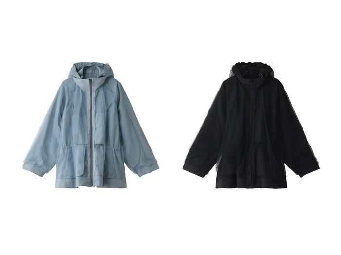【REKISAMI/レキサミ】の【Chika Kisada】チュールコンビフーデッドブルゾン REKISAMIのおすすめ!人気、トレンド・レディースファッションの通販 おすすめファッション通販アイテム レディースファッション・服の通販 founy(ファニー) ファッション Fashion レディースファッション WOMEN アウター Coat Outerwear ジャケット Jackets ブルゾン Blouson Jackets 2021年 2021 2021 春夏 S/S SS Spring/Summer 2021 S/S 春夏 SS Spring/Summer シンプル ジャケット チュール ブルゾン 春 Spring  ID:crp329100000019512