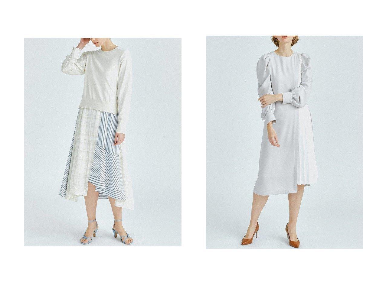【LANVIN en Bleu/ランバン オン ブルー】のマトンスリーブワンピース&ニットコンビMIXパターンワンピース LANVIN en Bleuのおすすめ!人気、トレンド・レディースファッションの通販 おすすめで人気の流行・トレンド、ファッションの通販商品 メンズファッション・キッズファッション・インテリア・家具・レディースファッション・服の通販 founy(ファニー) https://founy.com/ ファッション Fashion レディースファッション WOMEN ワンピース Dress イレギュラー エレガント 春 Spring キャミワンピース コンビ ストライプ チェック トレンド パターン リメイク ロング 2021年 2021 S/S 春夏 SS Spring/Summer 2021 春夏 S/S SS Spring/Summer 2021 |ID:crp329100000019524