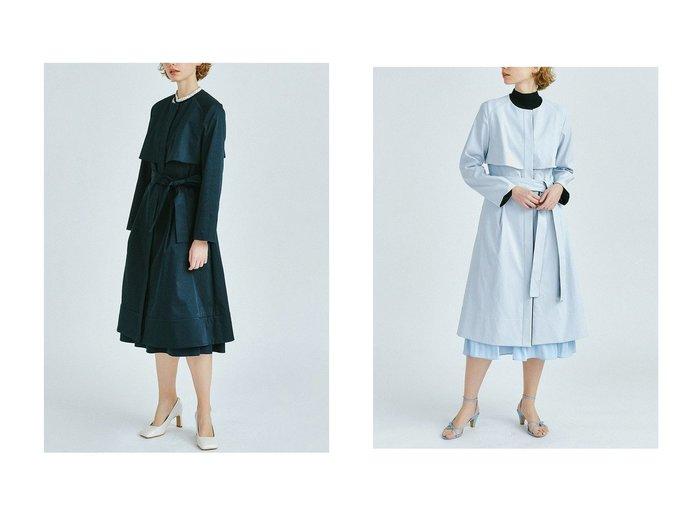【LANVIN en Bleu/ランバン オン ブルー】のノーカラーベルト付きコート LANVIN en Bleuのおすすめ!人気、トレンド・レディースファッションの通販 おすすめファッション通販アイテム インテリア・キッズ・メンズ・レディースファッション・服の通販 founy(ファニー) https://founy.com/ ファッション Fashion レディースファッション WOMEN アウター Coat Outerwear コート Coats ベルト Belts 春 Spring クール トレンド ハイネック フレア フロント リボン ロング 2021年 2021 S/S 春夏 SS Spring/Summer 2021 春夏 S/S SS Spring/Summer 2021 |ID:crp329100000019525