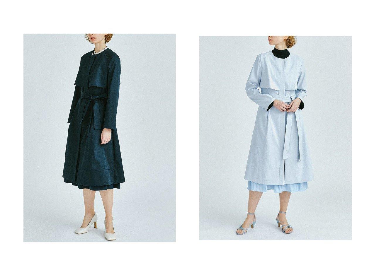 【LANVIN en Bleu/ランバン オン ブルー】のノーカラーベルト付きコート LANVIN en Bleuのおすすめ!人気、トレンド・レディースファッションの通販 おすすめで人気の流行・トレンド、ファッションの通販商品 メンズファッション・キッズファッション・インテリア・家具・レディースファッション・服の通販 founy(ファニー) https://founy.com/ ファッション Fashion レディースファッション WOMEN アウター Coat Outerwear コート Coats ベルト Belts 春 Spring クール トレンド ハイネック フレア フロント リボン ロング 2021年 2021 S/S 春夏 SS Spring/Summer 2021 春夏 S/S SS Spring/Summer 2021 |ID:crp329100000019525