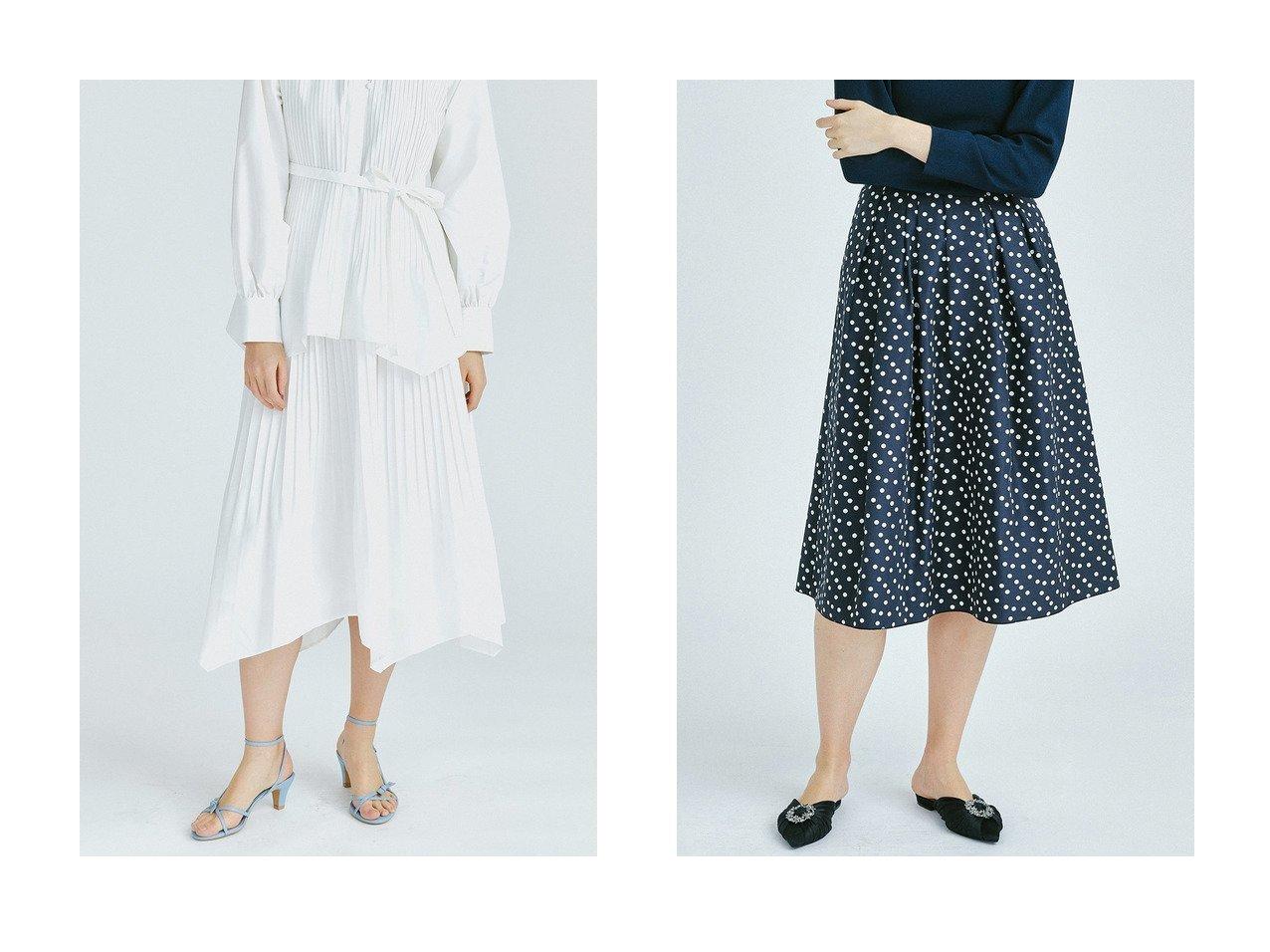 【LANVIN en Bleu/ランバン オン ブルー】のドット&プレーンタックスカート&ブロードプリーツスカート LANVIN en Bleuのおすすめ!人気、トレンド・レディースファッションの通販 おすすめで人気の流行・トレンド、ファッションの通販商品 メンズファッション・キッズファッション・インテリア・家具・レディースファッション・服の通販 founy(ファニー) https://founy.com/ ファッション Fashion レディースファッション WOMEN スカート Skirt プリーツスカート Pleated Skirts イエロー イレギュラーヘム 春 Spring クラシカル コンパクト セットアップ タイプライター ツイル バランス フレア プリーツ ベーシック 2021年 2021 S/S 春夏 SS Spring/Summer 2021 春夏 S/S SS Spring/Summer 2021 |ID:crp329100000019529