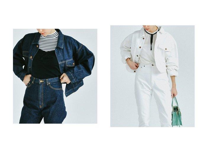 【LANVIN en Bleu/ランバン オン ブルー】のバックフリルデニムジャケット LANVIN en Bleuのおすすめ!人気、トレンド・レディースファッションの通販 おすすめファッション通販アイテム レディースファッション・服の通販 founy(ファニー) ファッション Fashion レディースファッション WOMEN アウター Coat Outerwear ジャケット Jackets デニムジャケット Denim Jackets 2021年 2021 2021 春夏 S/S SS Spring/Summer 2021 S/S 春夏 SS Spring/Summer ショート ジャケット セットアップ デニム フリル 春 Spring |ID:crp329100000019531