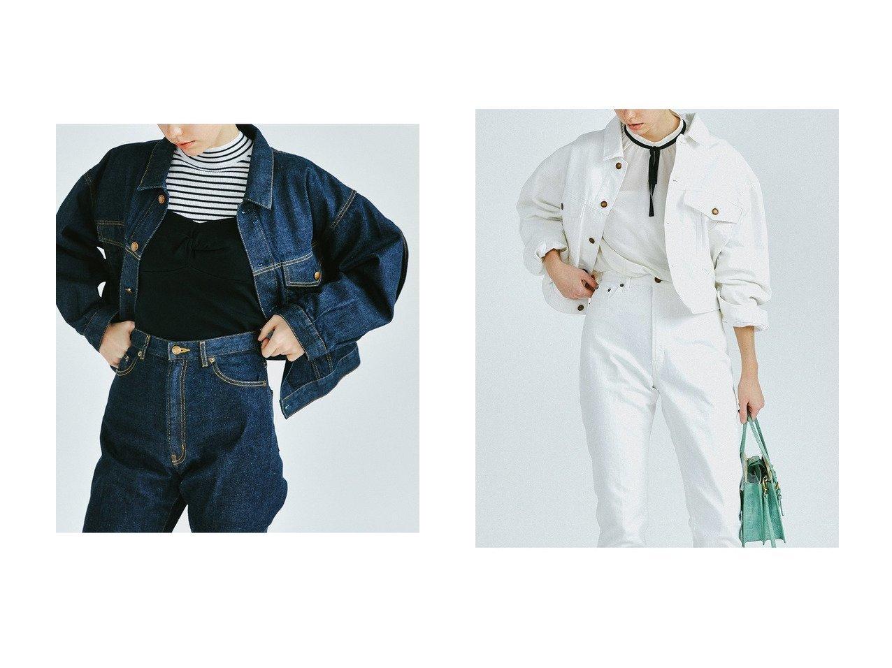 【LANVIN en Bleu/ランバン オン ブルー】のバックフリルデニムジャケット LANVIN en Bleuのおすすめ!人気、トレンド・レディースファッションの通販 おすすめで人気の流行・トレンド、ファッションの通販商品 メンズファッション・キッズファッション・インテリア・家具・レディースファッション・服の通販 founy(ファニー) https://founy.com/ ファッション Fashion レディースファッション WOMEN アウター Coat Outerwear ジャケット Jackets デニムジャケット Denim Jackets 2021年 2021 2021 春夏 S/S SS Spring/Summer 2021 S/S 春夏 SS Spring/Summer ショート ジャケット セットアップ デニム フリル 春 Spring |ID:crp329100000019531