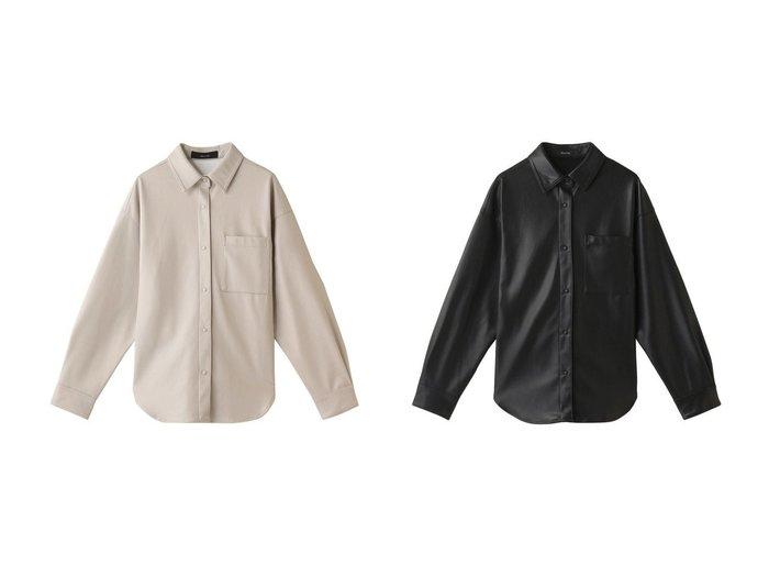 【allureville/アルアバイル】のフェイクレザーオーバーシャツ allurevilleのおすすめ!人気、トレンド・レディースファッションの通販 おすすめファッション通販アイテム レディースファッション・服の通販 founy(ファニー) ファッション Fashion レディースファッション WOMEN トップス Tops Tshirt シャツ/ブラウス Shirts Blouses 2021年 2021 2021 春夏 S/S SS Spring/Summer 2021 S/S 春夏 SS Spring/Summer スリーブ フェイクレザー ロング 春 Spring |ID:crp329100000019545