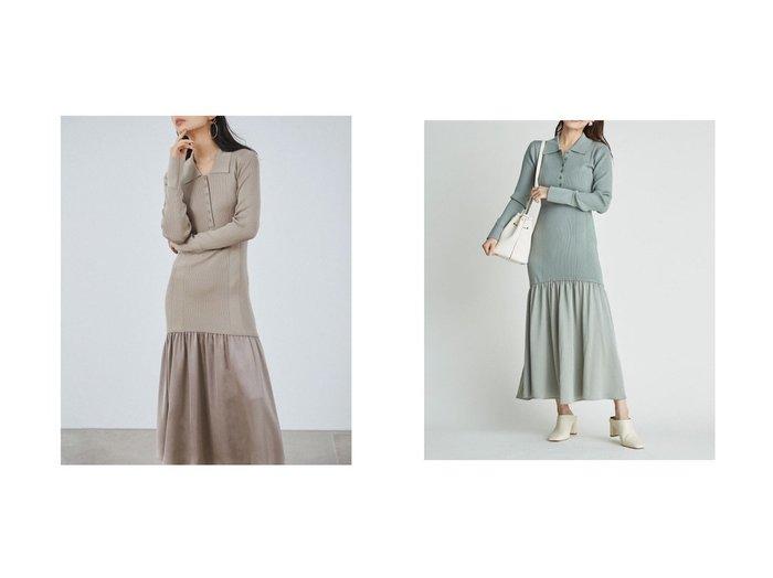 【FRAY I.D/フレイ アイディー】のサテンフレアポロワンピース FRAY I.Dのおすすめ!人気、トレンド・レディースファッションの通販 おすすめファッション通販アイテム レディースファッション・服の通販 founy(ファニー) ファッション Fashion レディースファッション WOMEN ワンピース Dress 春 Spring コンビ サテン スマート バランス フレア ロング 2021年 2021 S/S 春夏 SS Spring/Summer 2021 春夏 S/S SS Spring/Summer 2021 |ID:crp329100000019580