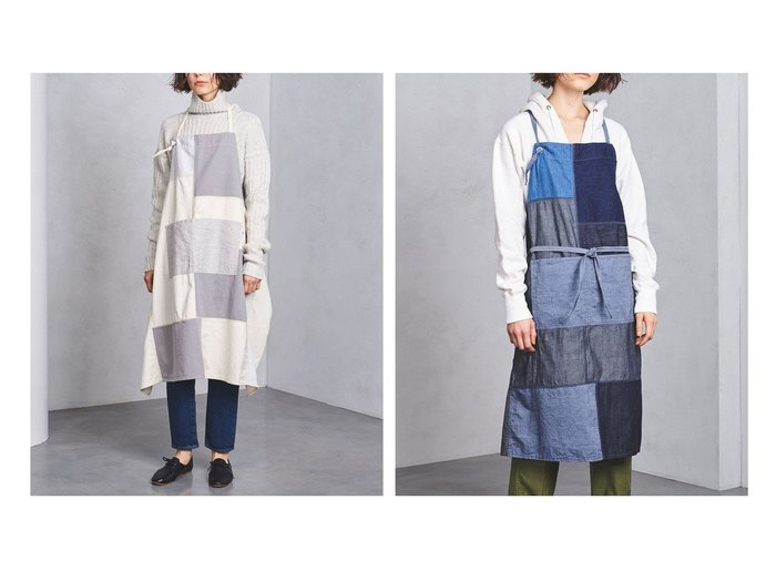 【UNITED ARROWS / GOODS/ユナイテッドアローズ】のデニム エプロン UNITED ARROWSのおすすめ!人気、トレンド・レディースファッションの通販 おすすめファッション通販アイテム レディースファッション・服の通販 founy(ファニー) タオル デニム パッチワーク フロント ポケット |ID:crp329100000019590