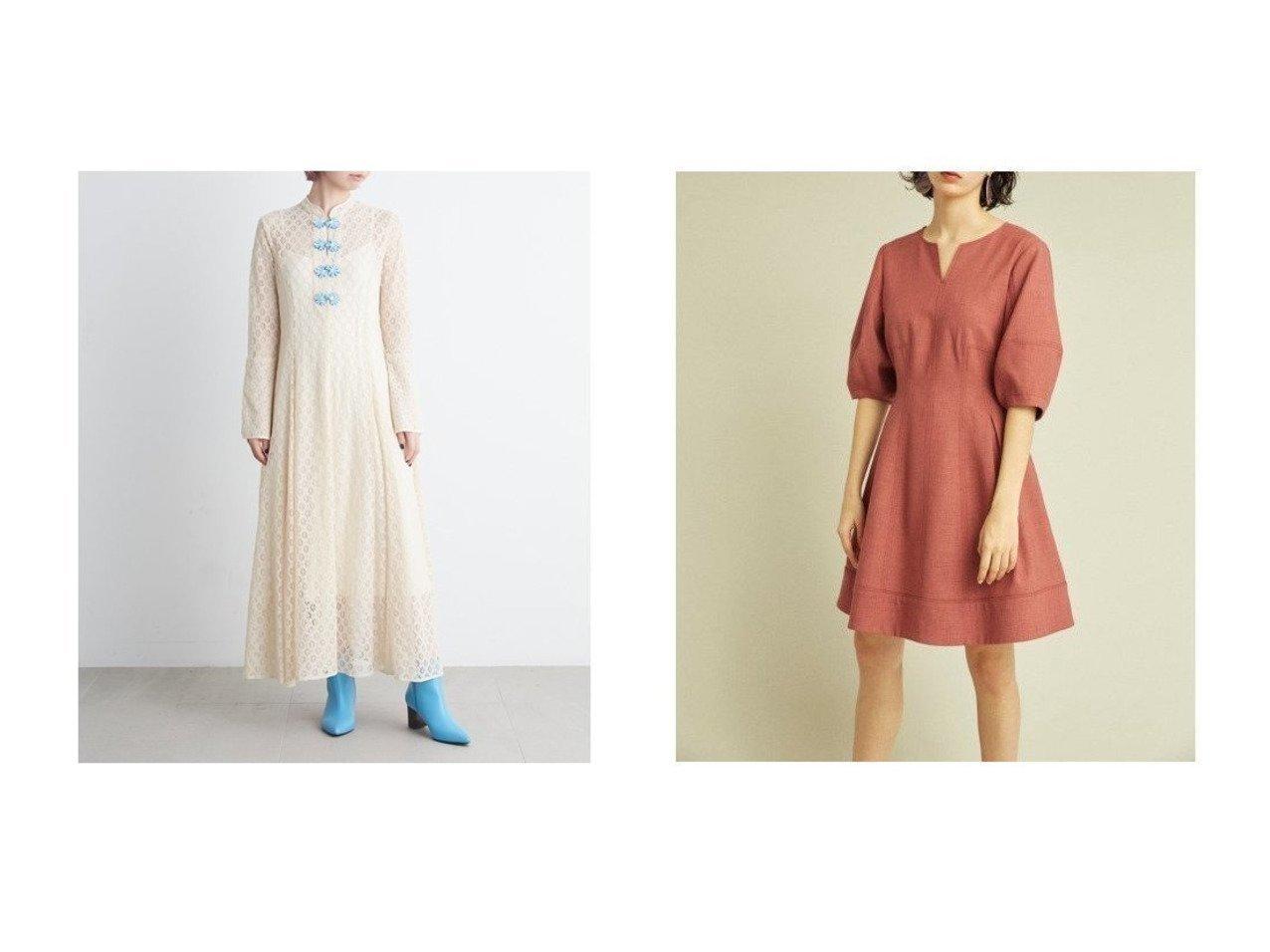 【Lily Brown/リリーブラウン】のチャイナレースワンピース&ボリュームスリーブミニワンピース Lily Brownのおすすめ!人気、トレンド・レディースファッションの通販 おすすめで人気の流行・トレンド、ファッションの通販商品 メンズファッション・キッズファッション・インテリア・家具・レディースファッション・服の通販 founy(ファニー) https://founy.com/ ファッション Fashion レディースファッション WOMEN ワンピース Dress インナー エレガント カフス スマート スリット 人気 バランス フレア ミックス レース 再入荷 Restock/Back in Stock/Re Arrival デコルテ デニム 定番 Standard ロング ワーク  ID:crp329100000019628