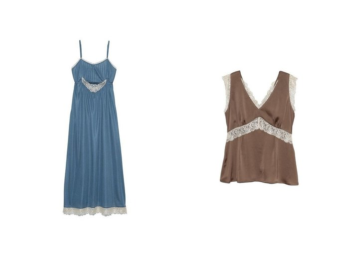 【Lily Brown/リリーブラウン】のヴィンテージサテンキャミOP&ヴィンテージサテントップス Lily Brownのおすすめ!人気、トレンド・レディースファッションの通販 おすすめファッション通販アイテム インテリア・キッズ・メンズ・レディースファッション・服の通販 founy(ファニー) https://founy.com/ ファッション Fashion レディースファッション WOMEN ワンピース Dress トップス Tops Tshirt キャミソール / ノースリーブ No Sleeves アンダー アンティーク キャミワンピース ストレッチ ラップ レース 再入荷 Restock/Back in Stock/Re Arrival |ID:crp329100000019630