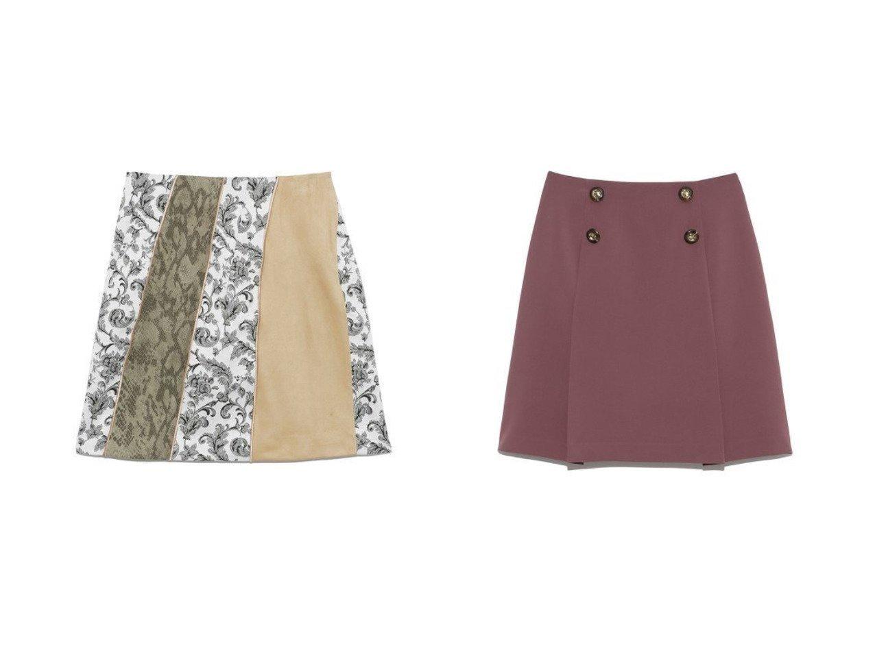 【Lily Brown/リリーブラウン】のカラーブロックスカート&釦デザインタックミニスカート Lily Brownのおすすめ!人気、トレンド・レディースファッションの通販 おすすめで人気の流行・トレンド、ファッションの通販商品 メンズファッション・キッズファッション・インテリア・家具・レディースファッション・服の通販 founy(ファニー) https://founy.com/ ファッション Fashion レディースファッション WOMEN スカート Skirt ミニスカート Mini Skirts スウェード スマート 台形 バランス パイソン ブロック ミックス ミニスカート シンプル フレア フロント 再入荷 Restock/Back in Stock/Re Arrival  ID:crp329100000019639